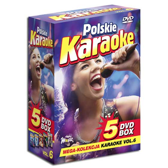 5 DVD BOX Polskie Karaoke vol.6